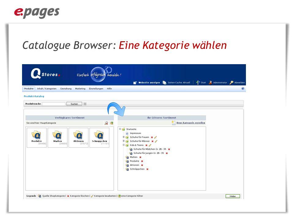 Catalogue Browser: Eine Kategorie wählen