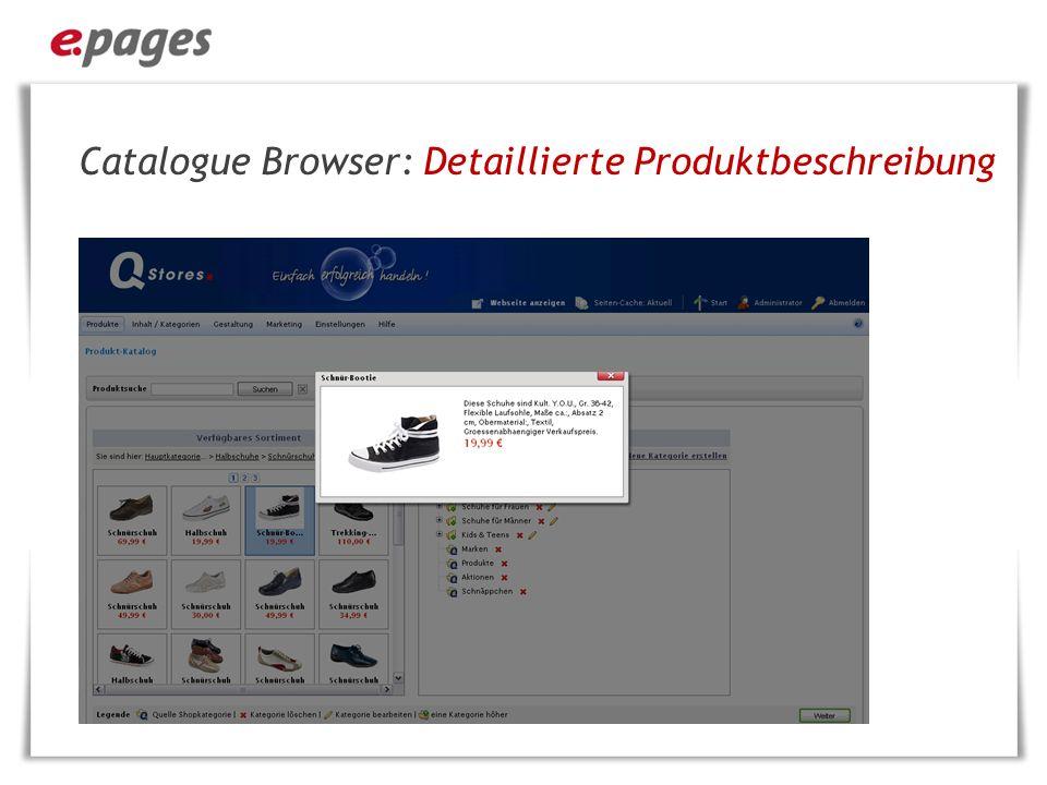 Catalogue Browser: Detaillierte Produktbeschreibung