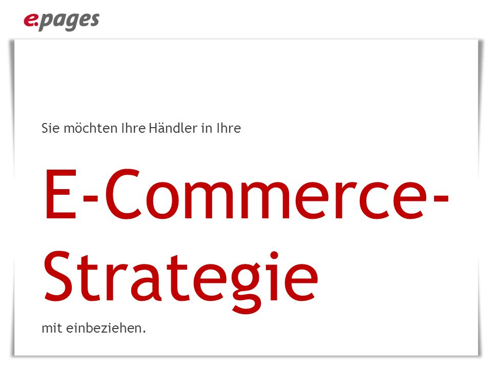 E-Commerce-Strategie
