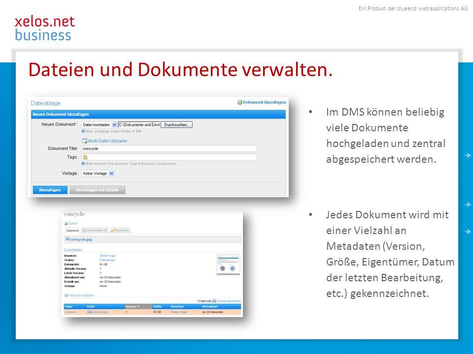 Dateien und Dokumente verwalten.