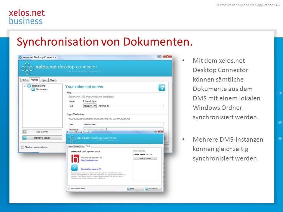 Synchronisation von Dokumenten.