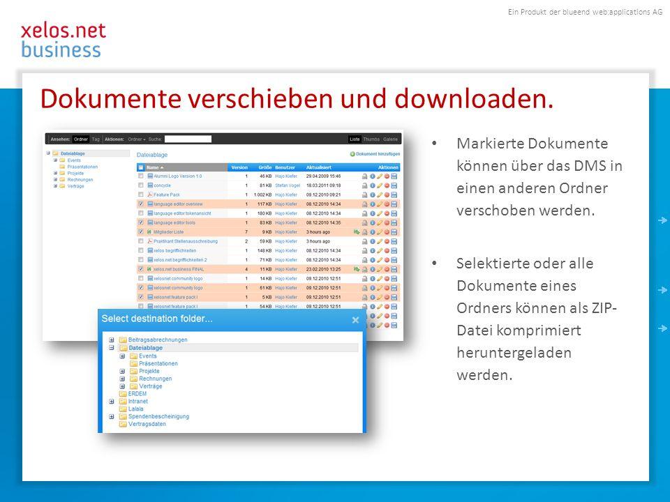 Dokumente verschieben und downloaden.