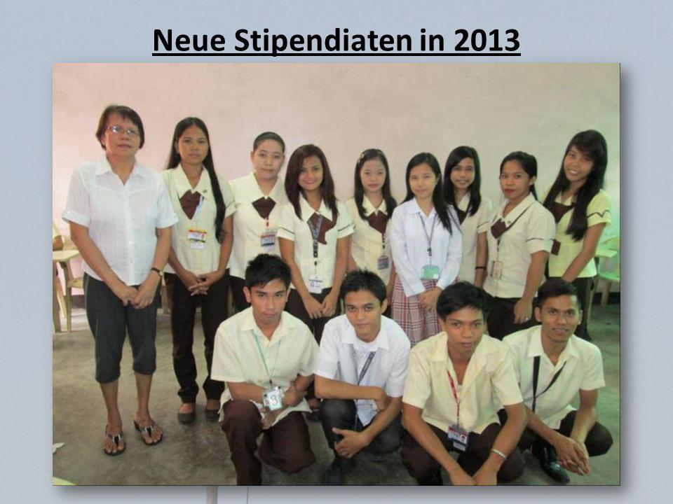 Neue Stipendiaten in 2013