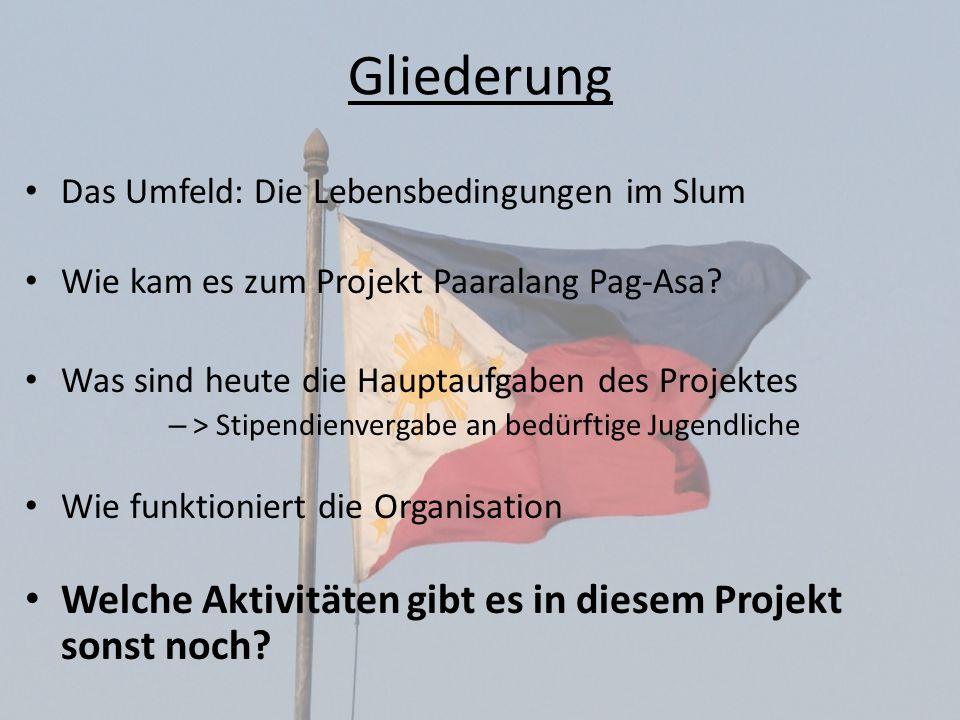 Gliederung Welche Aktivitäten gibt es in diesem Projekt sonst noch