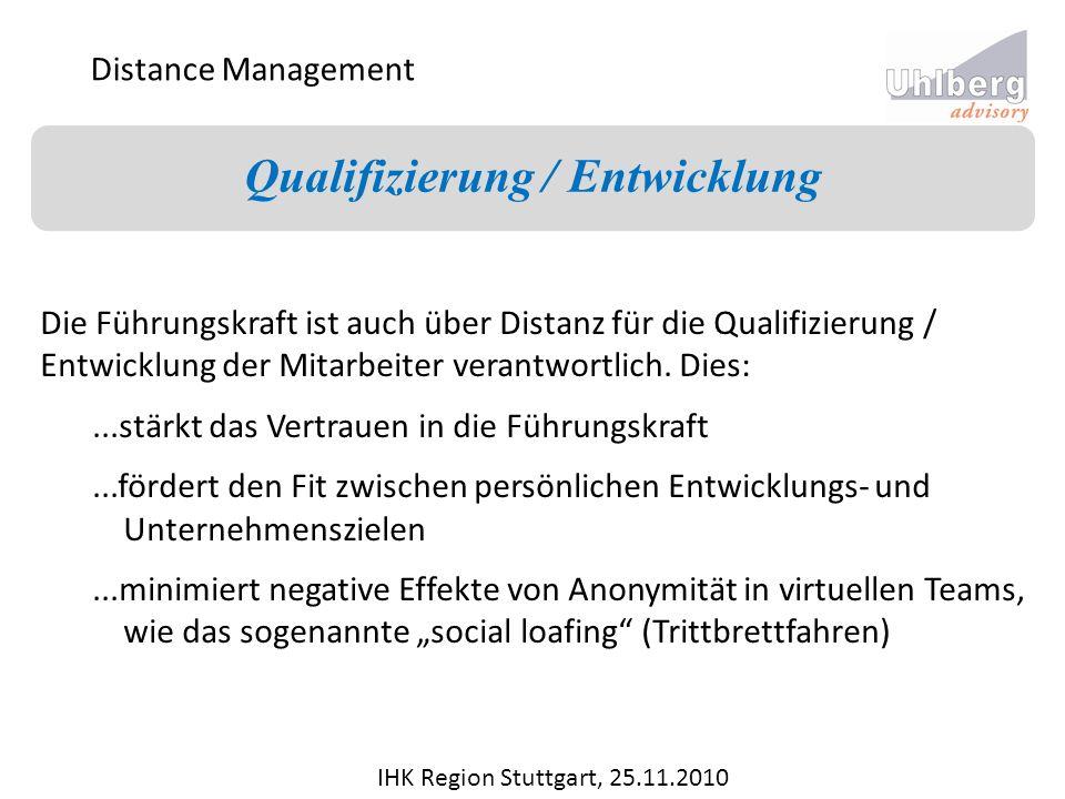 Qualifizierung / Entwicklung