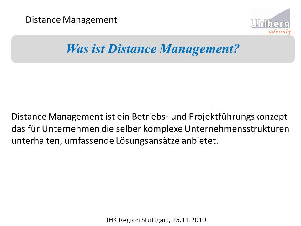 Was ist Distance Management