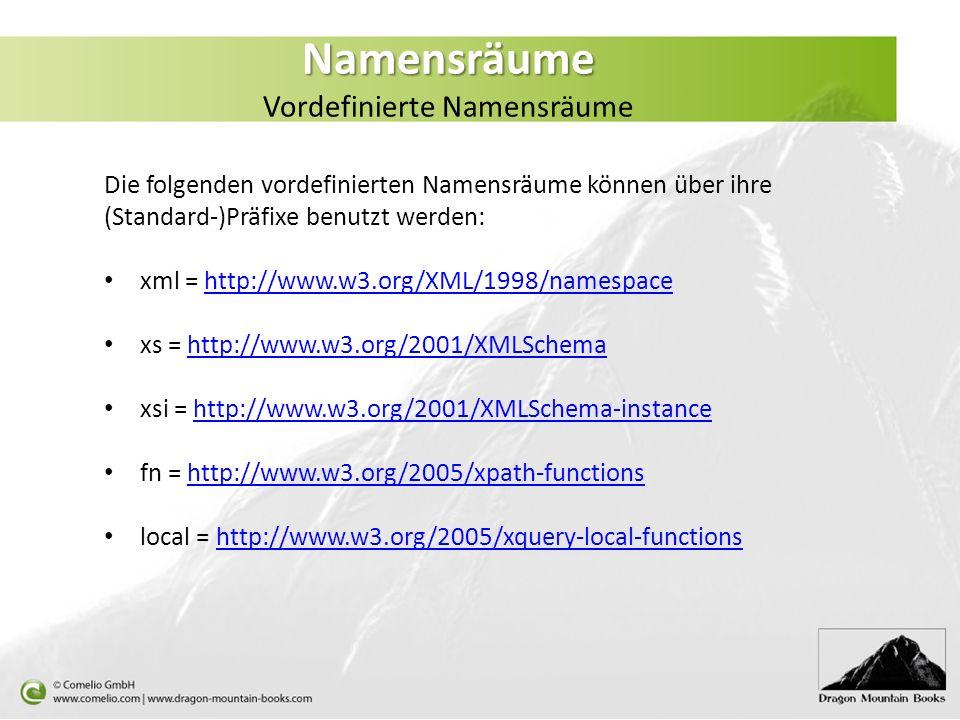 Namensräume Vordefinierte Namensräume