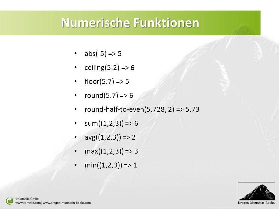 Numerische Funktionen