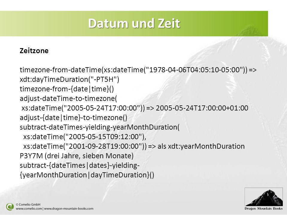 Datum und Zeit Zeitzone