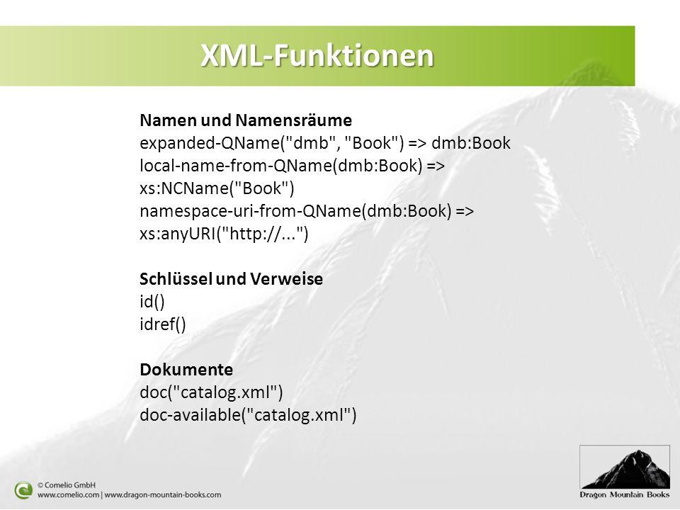 XML-Funktionen Namen und Namensräume
