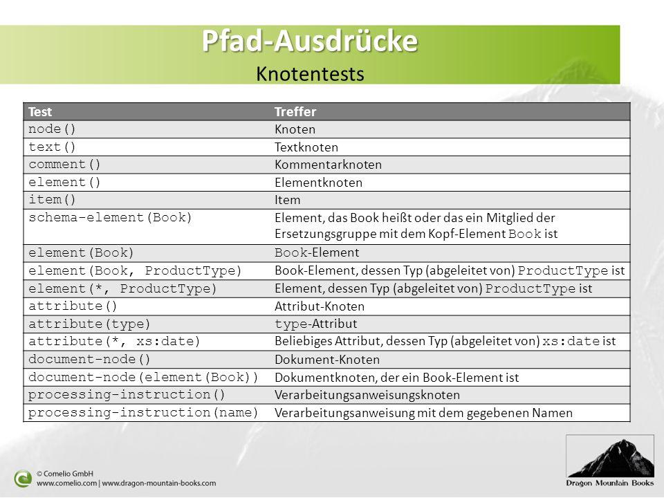 Pfad-Ausdrücke Knotentests