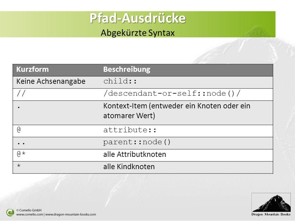 Pfad-Ausdrücke Abgekürzte Syntax