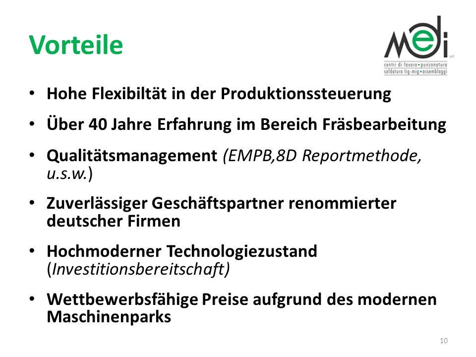 Vorteile Hohe Flexibiltät in der Produktionssteuerung
