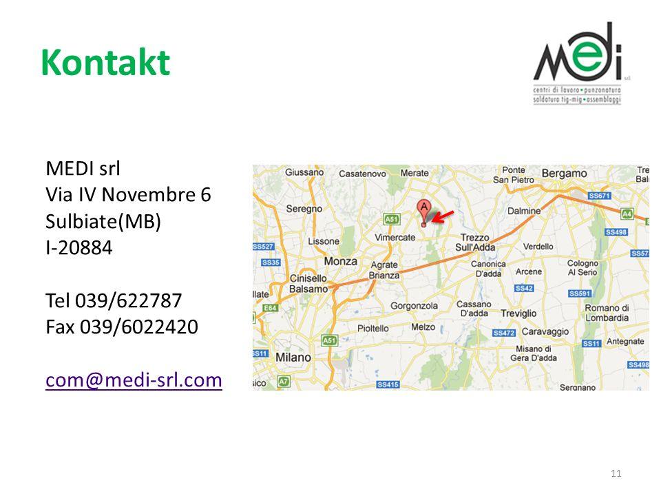 Kontakt MEDI srl Via IV Novembre 6 Sulbiate(MB)