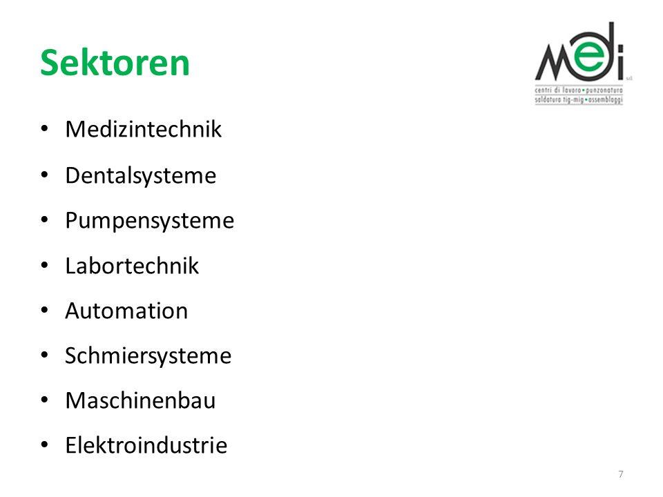 Sektoren Medizintechnik Dentalsysteme Pumpensysteme Labortechnik