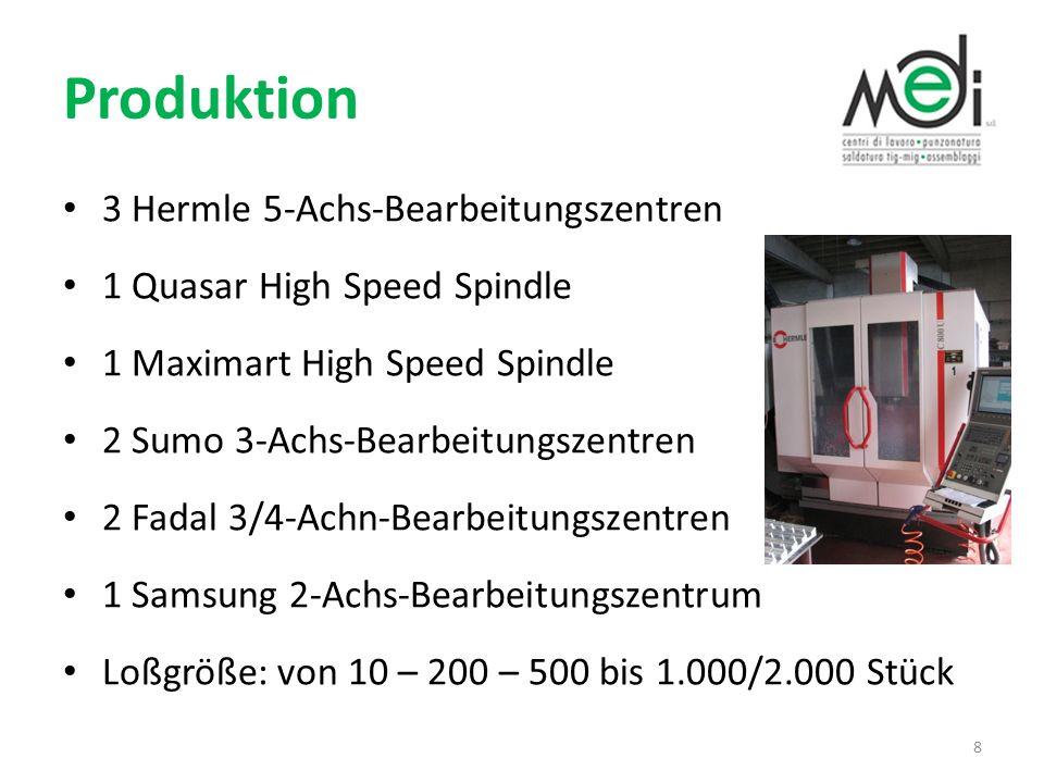 Produktion 3 Hermle 5-Achs-Bearbeitungszentren