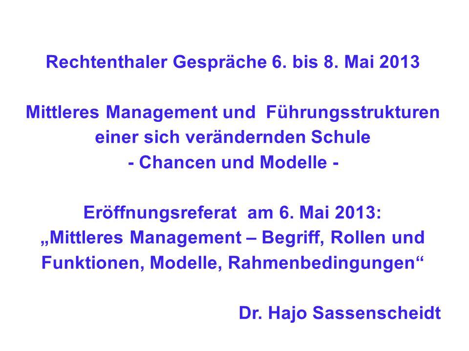 Rechtenthaler Gespräche 6. bis 8. Mai 2013