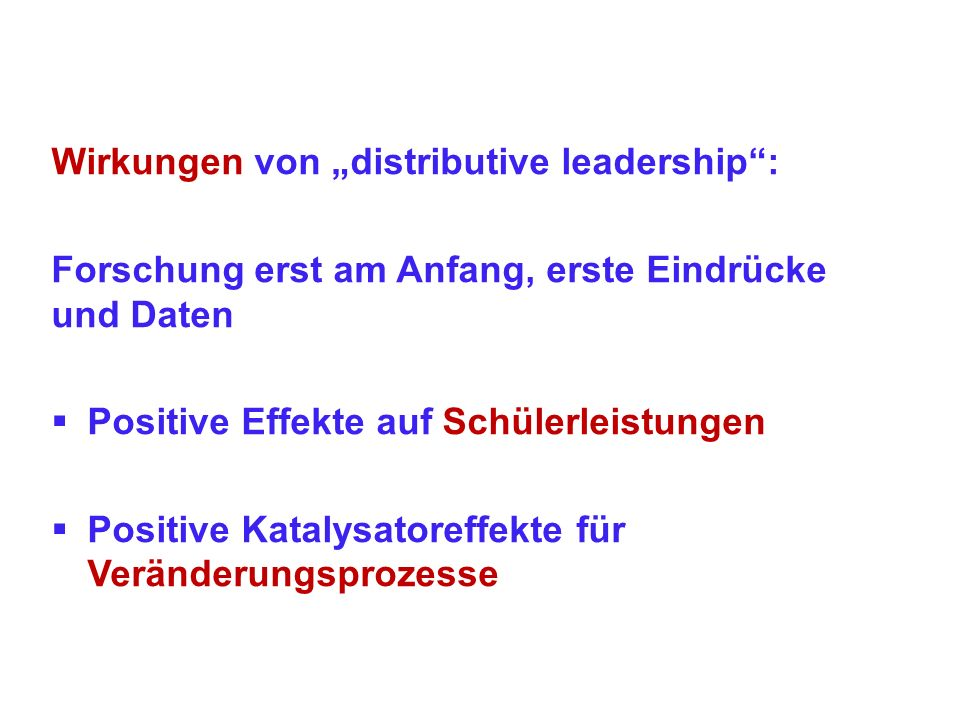 "Wirkungen von ""distributive leadership :"