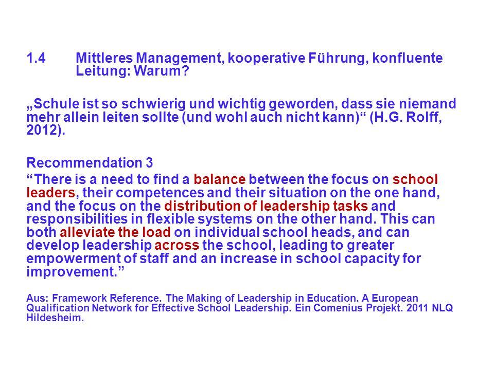 1. 4. Mittleres Management, kooperative Führung,. konfluente