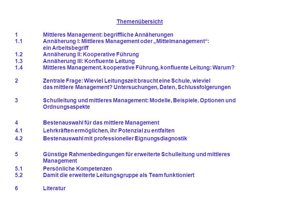Themenübersicht 1 Mittleres Management: begriffliche Annäherungen 1