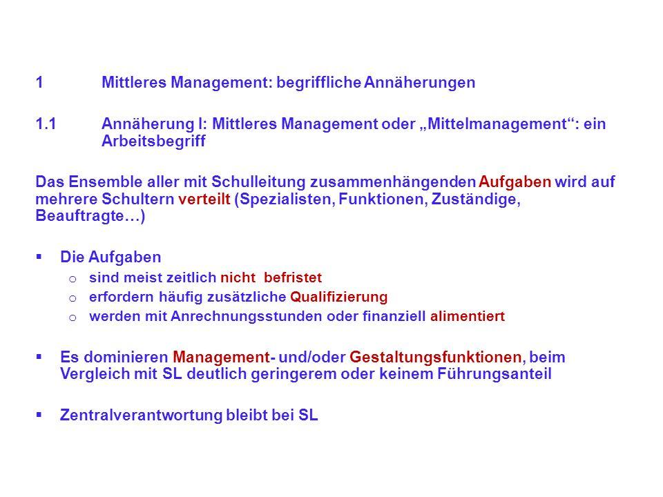 1 Mittleres Management: begriffliche Annäherungen