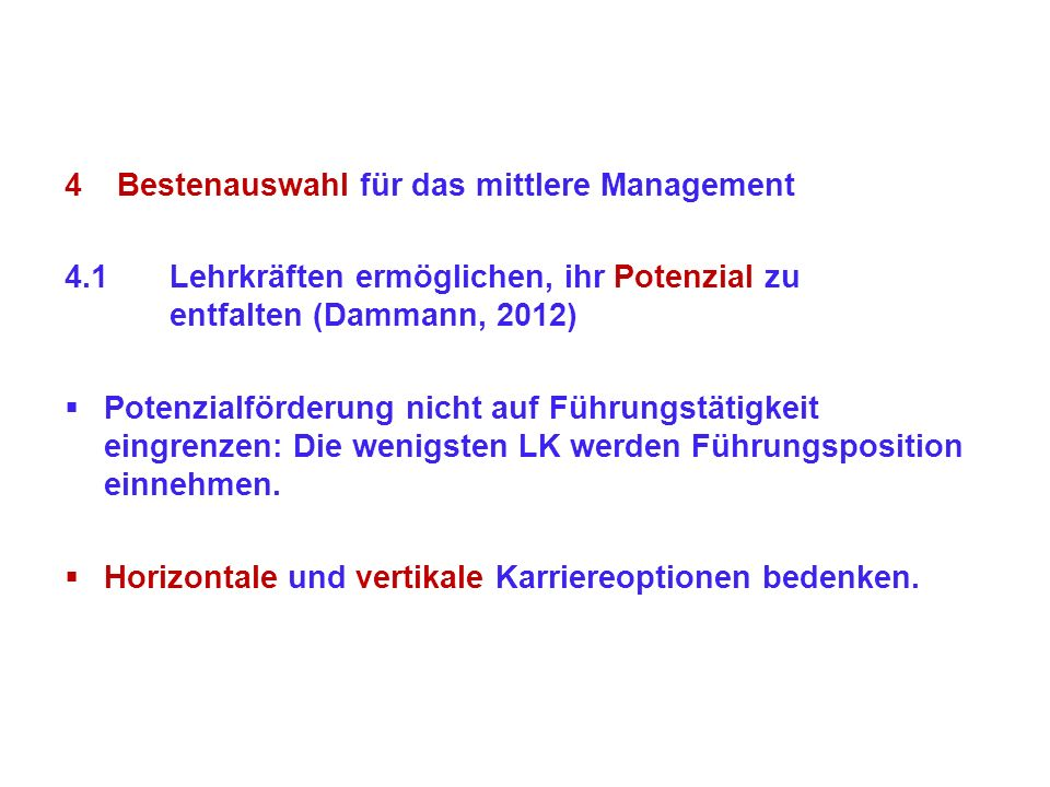 Bestenauswahl für das mittlere Management