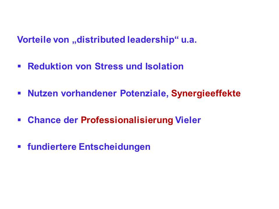 """Vorteile von """"distributed leadership u.a."""