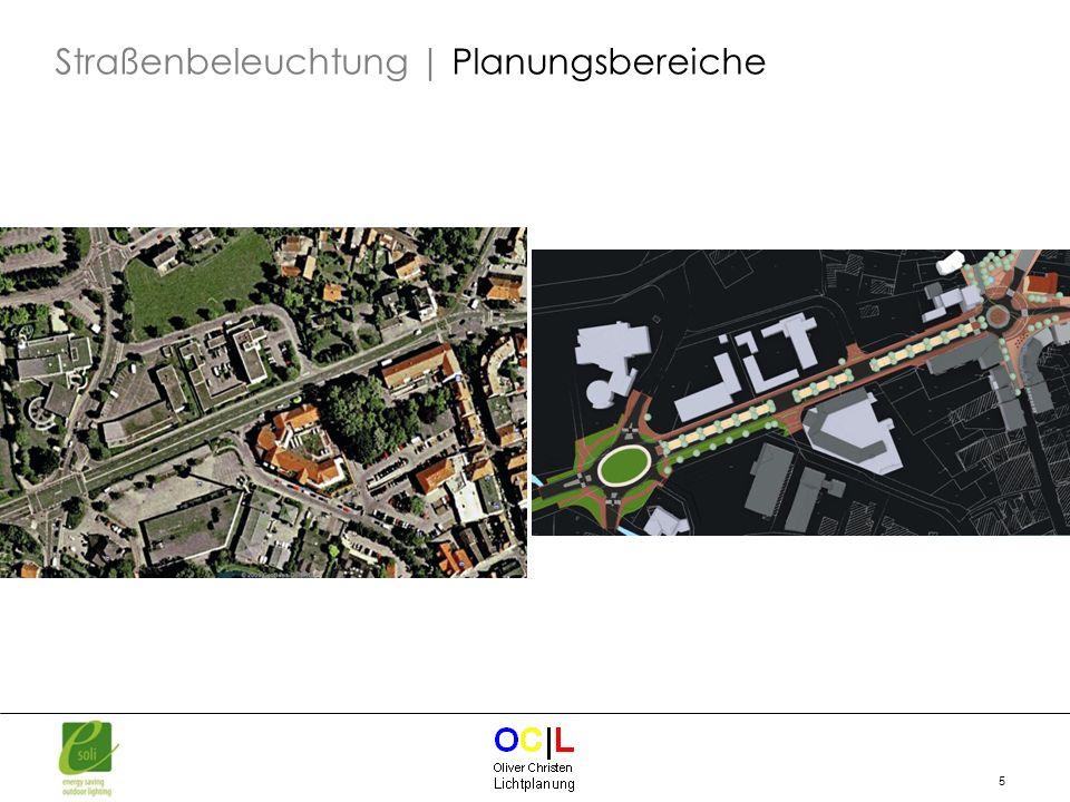 Straßenbeleuchtung | Planungsbereiche