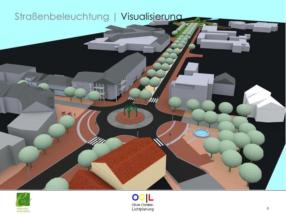 Straßenbeleuchtung | Visualisierung