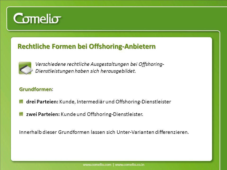 Rechtliche Formen bei Offshoring-Anbietern