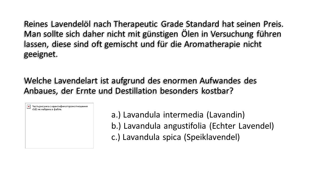 Reines Lavendelöl nach Therapeutic Grade Standard hat seinen Preis