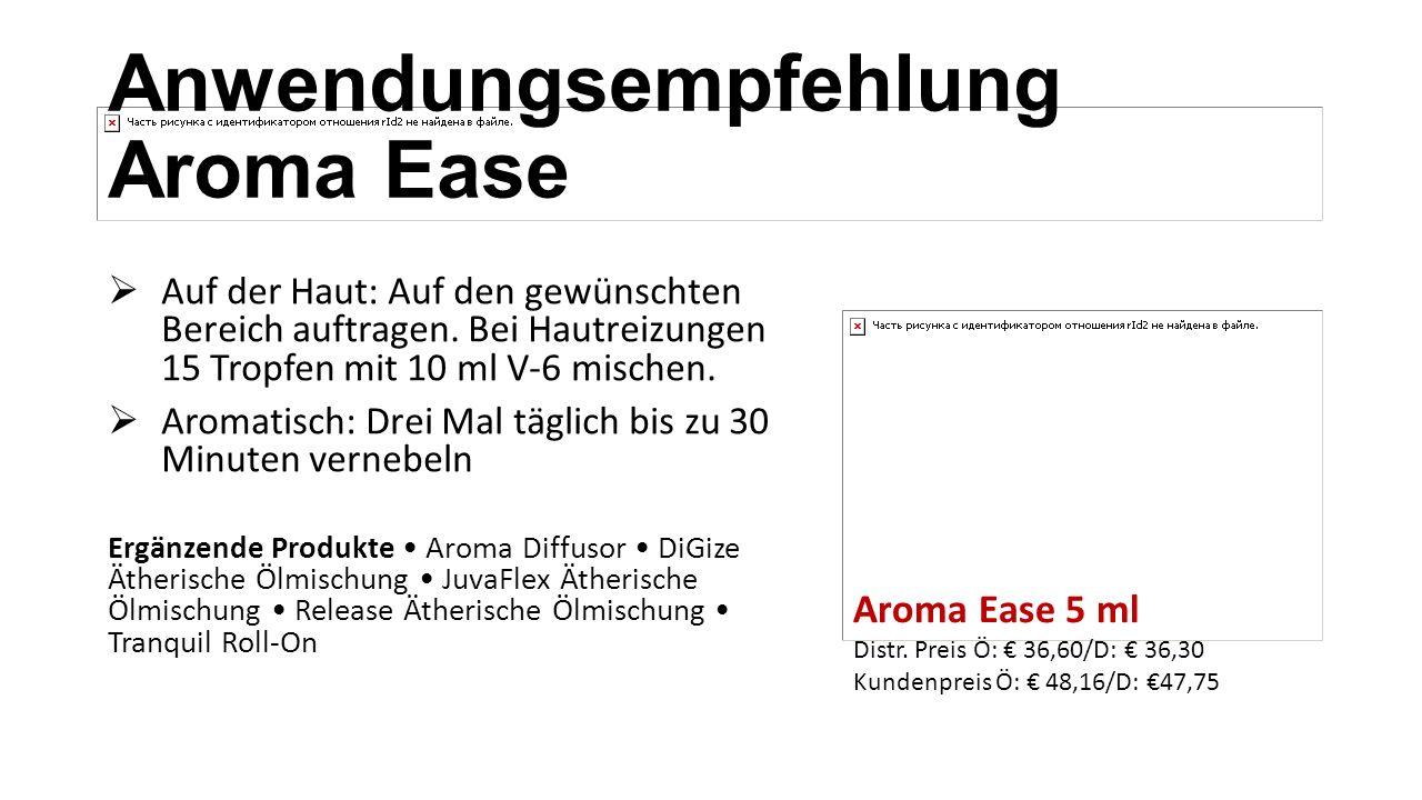 Anwendungsempfehlung Aroma Ease