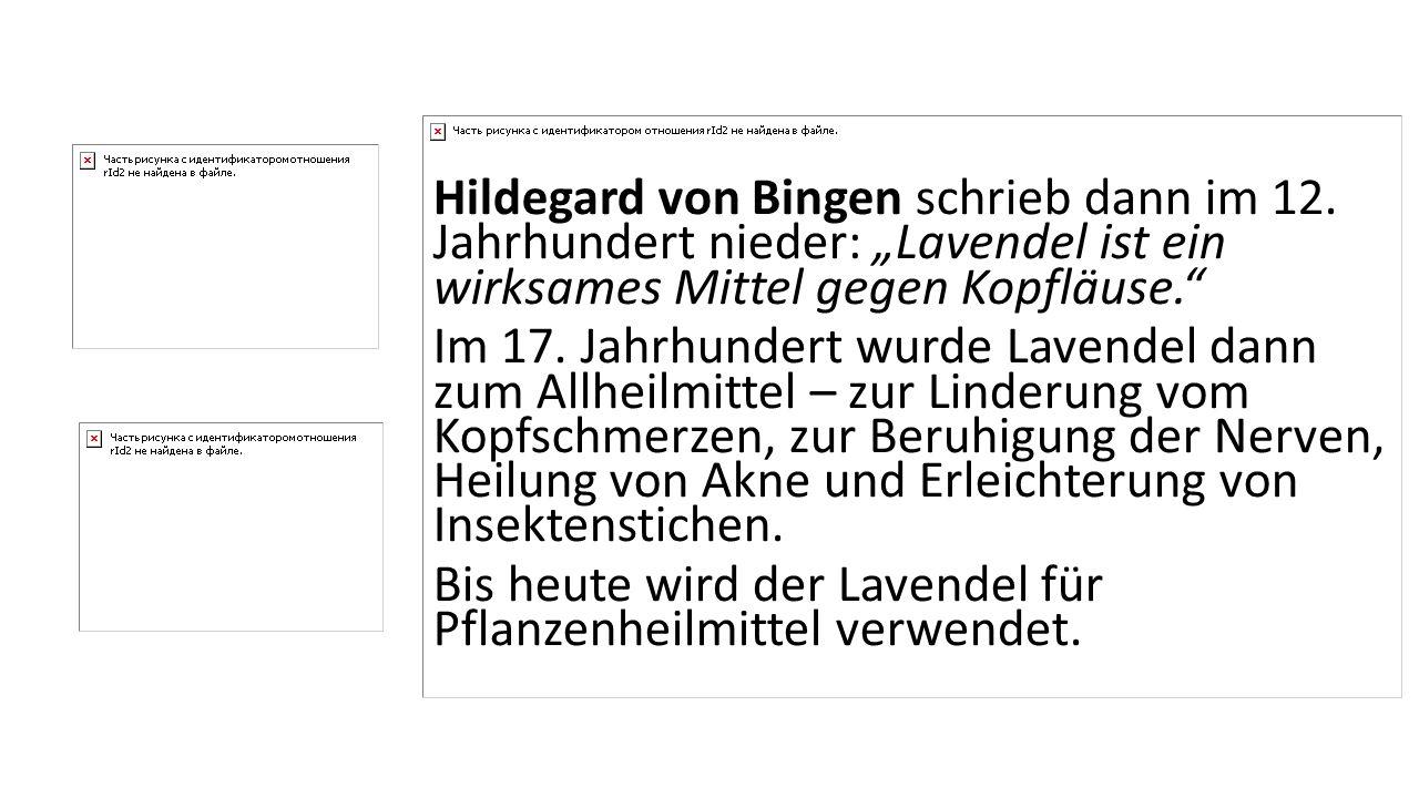 Hildegard von Bingen schrieb dann im 12