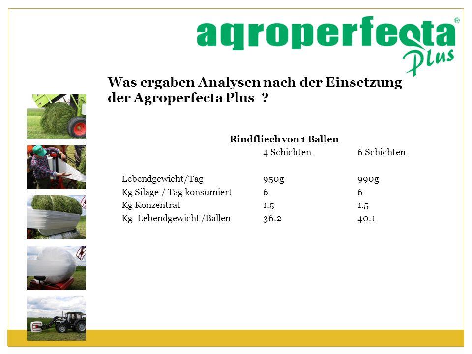 Was ergaben Analysen nach der Einsetzung der Agroperfecta Plus