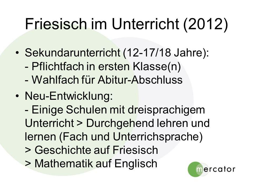 Friesisch im Unterricht (2012)