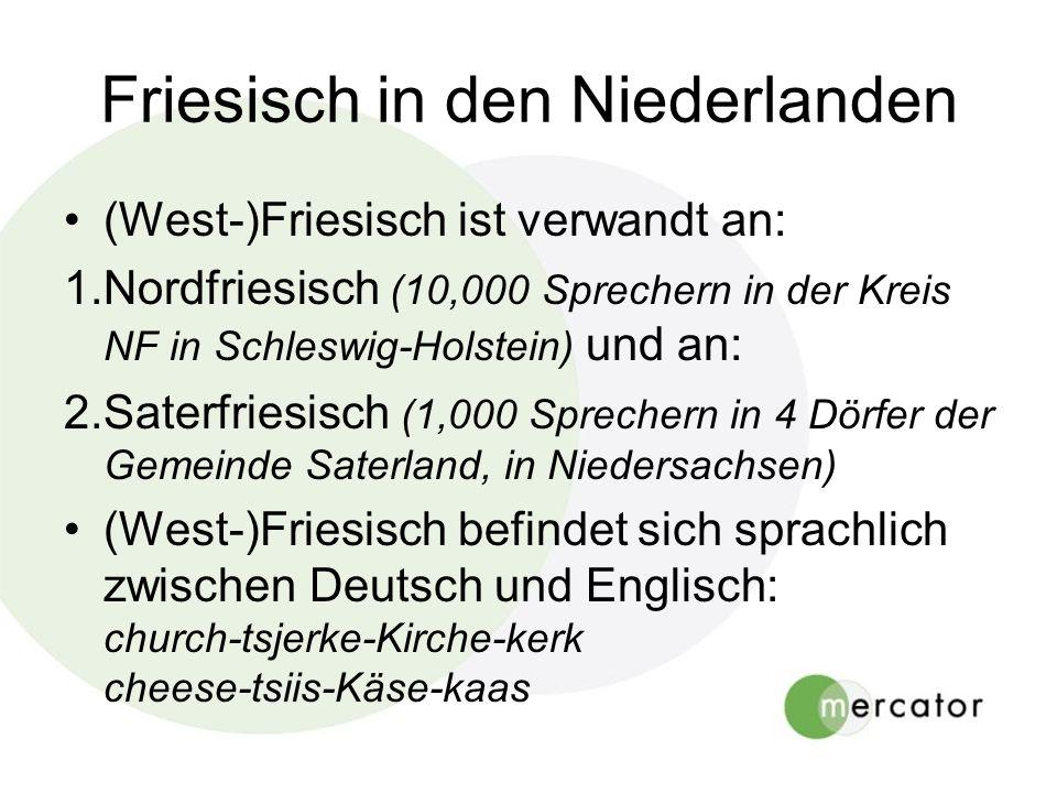 Friesisch in den Niederlanden