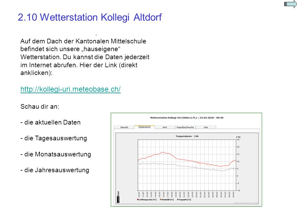 2.10 Wetterstation Kollegi Altdorf