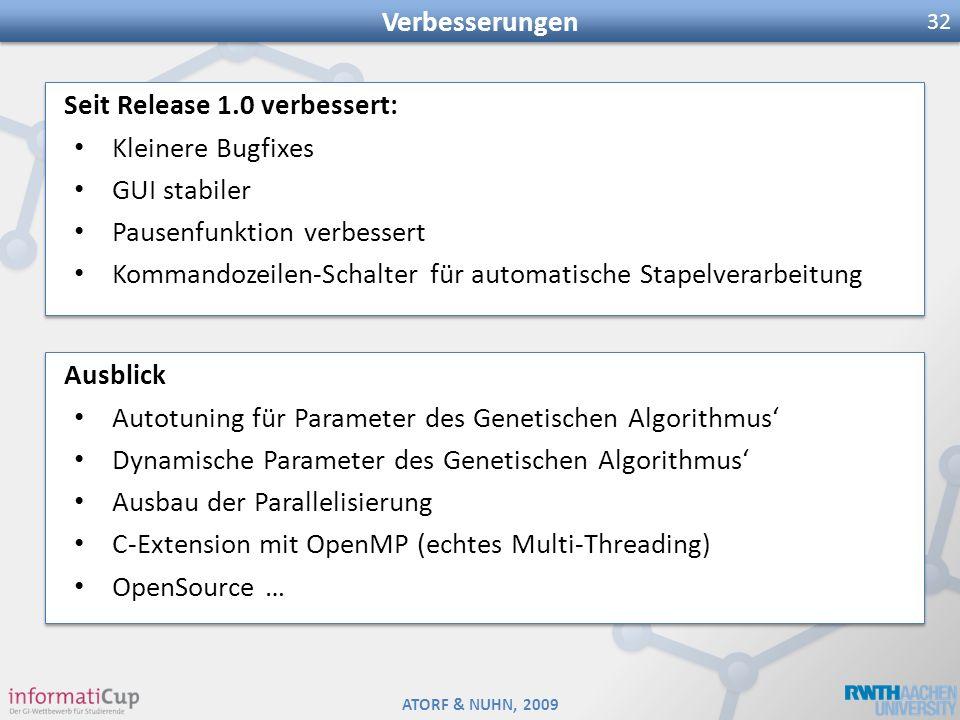 Verbesserungen Seit Release 1.0 verbessert: Kleinere Bugfixes. GUI stabiler. Pausenfunktion verbessert.