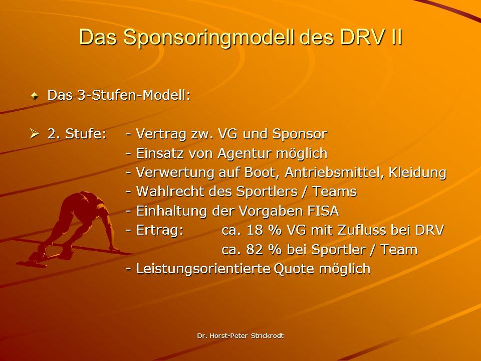 Das Sponsoringmodell des DRV II