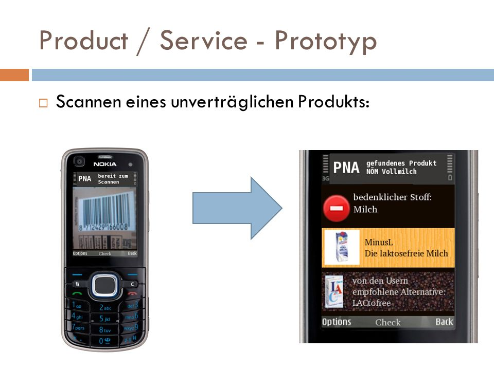 Product / Service - Prototyp
