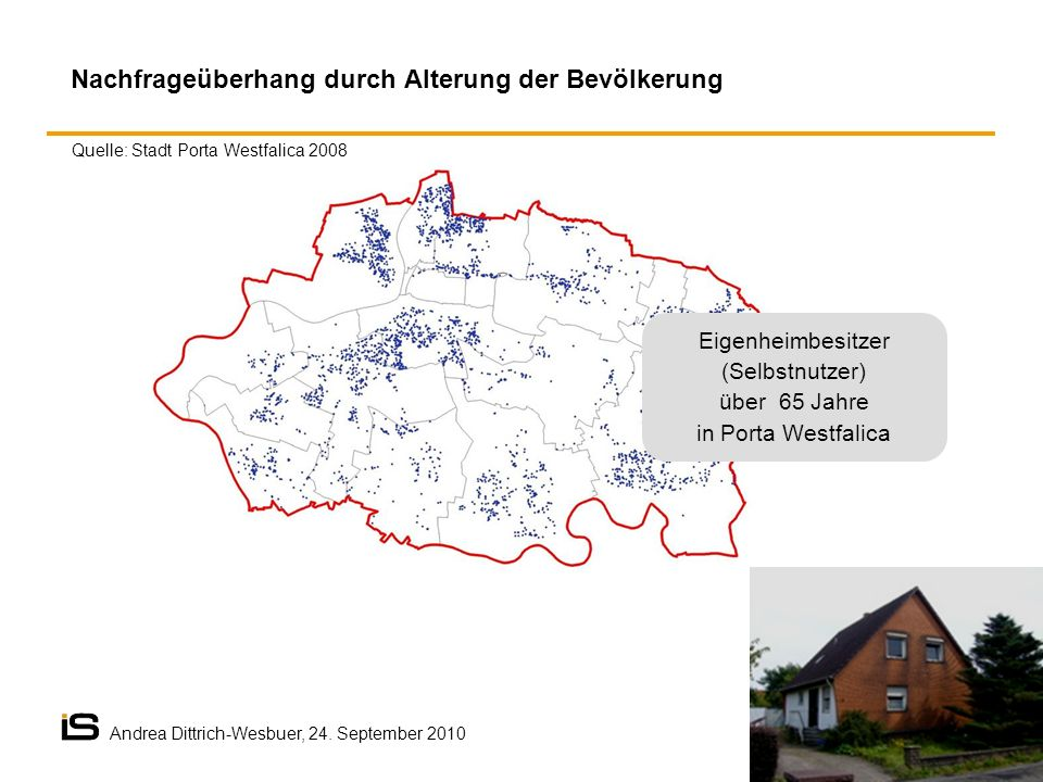 Eigenheimbesitzer (Selbstnutzer) über 65 Jahre in Porta Westfalica