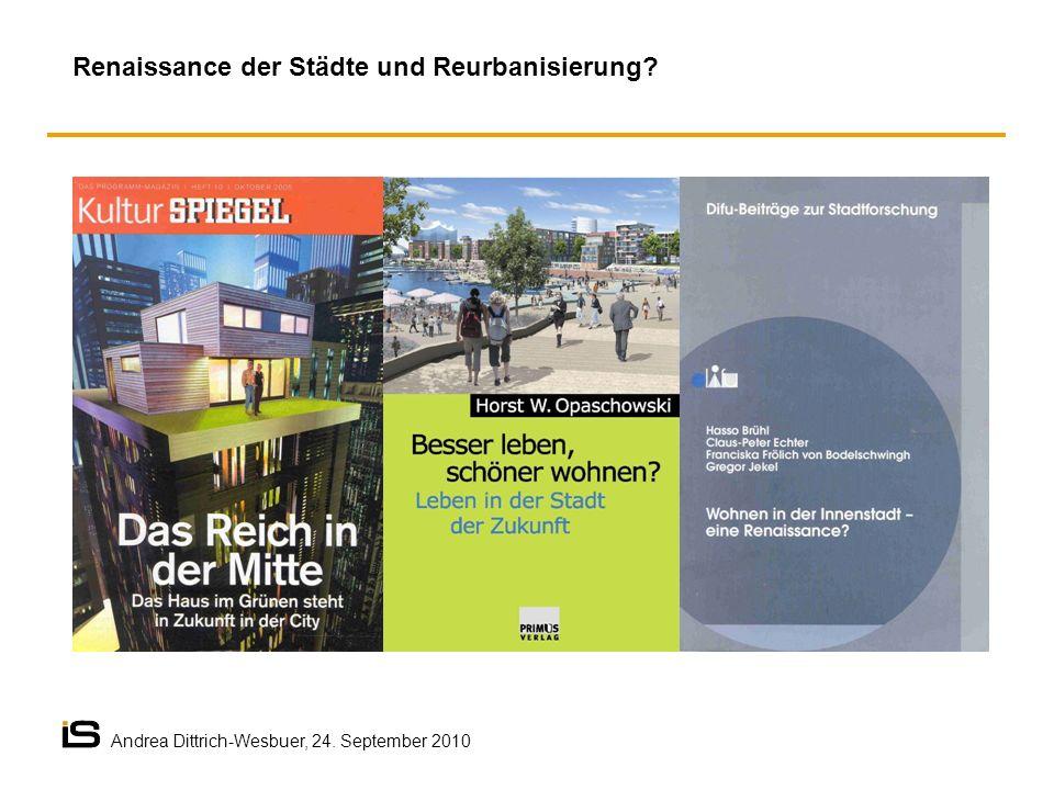 Renaissance der Städte und Reurbanisierung