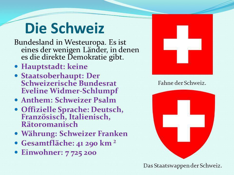 Die Schweiz Bundesland in Westeuropa. Es ist eines der wenigen Länder, in denen es die direkte Demokratie gibt.