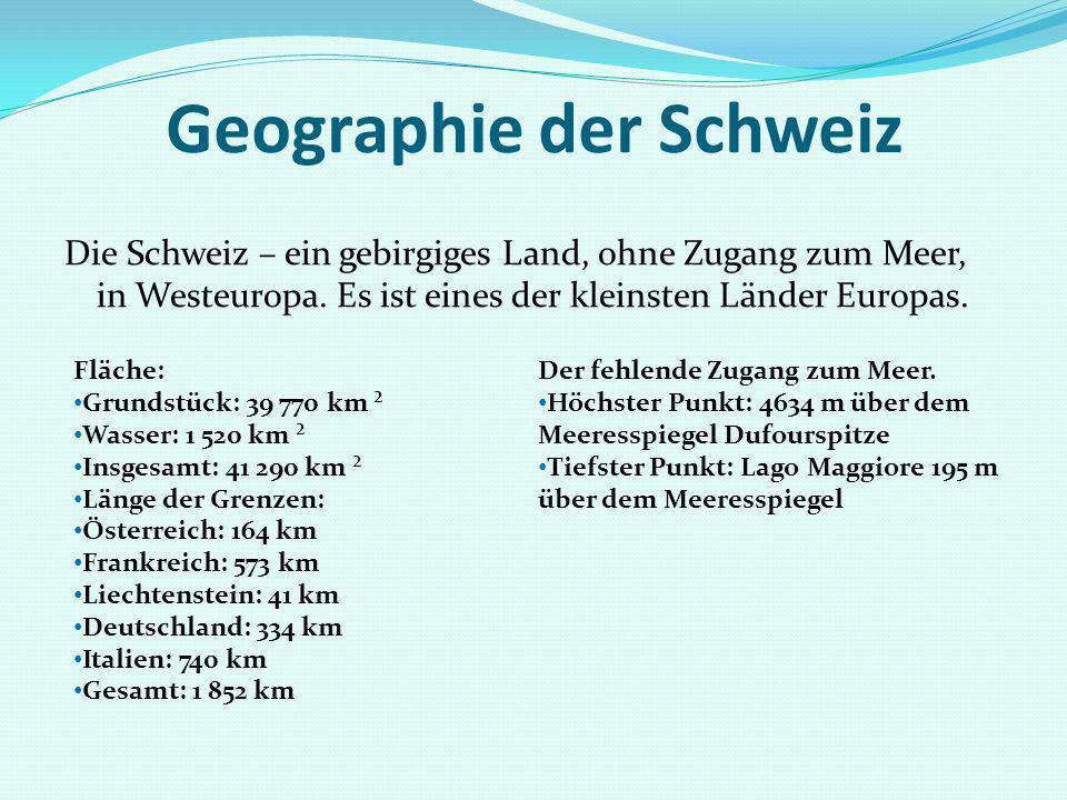 Geographie der Schweiz