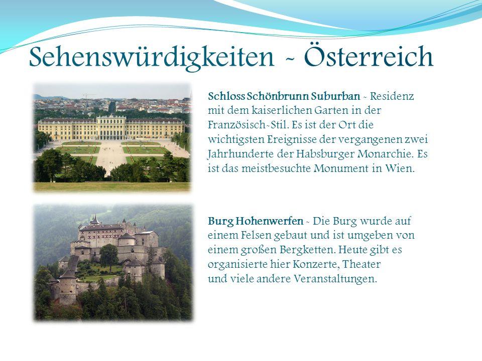Sehenswürdigkeiten - Österreich