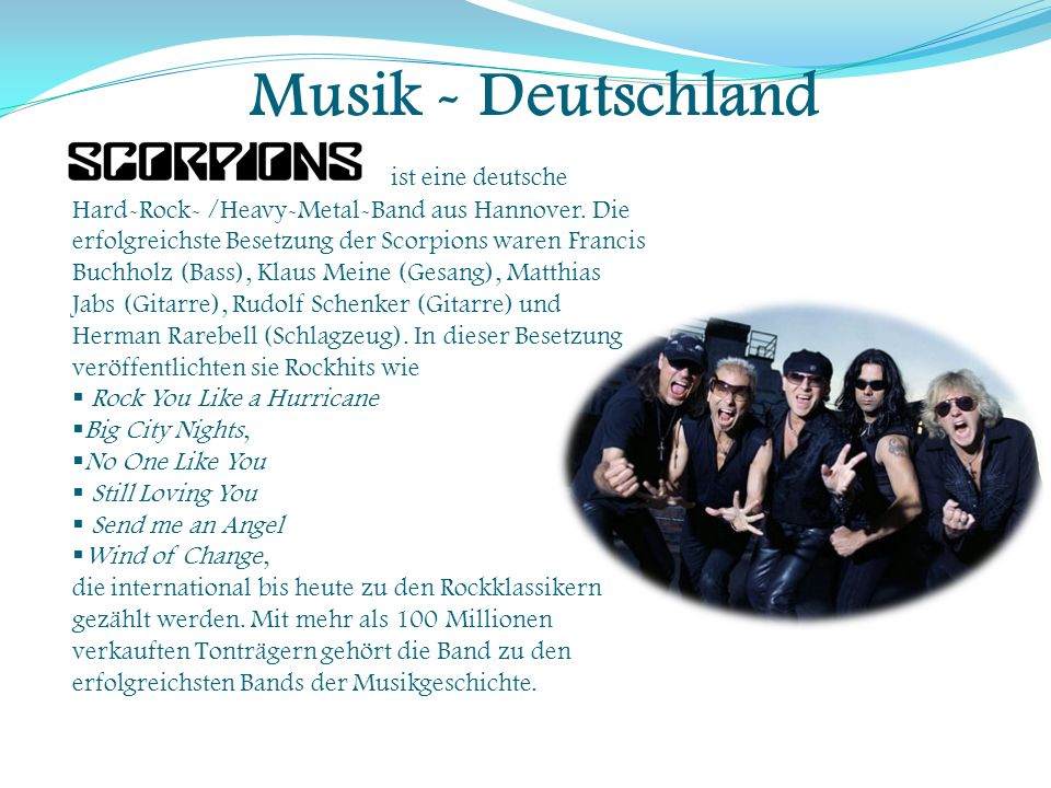 Musik - Deutschland ist eine deutsche