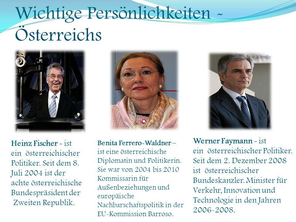 Wichtige Persönlichkeiten -Österreichs