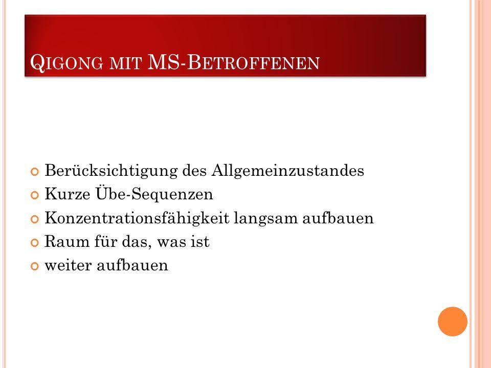 Qigong mit MS-Betroffenen