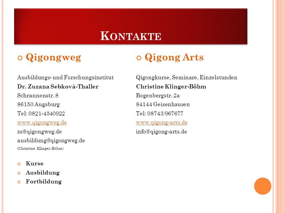 Kontakte Qigongweg Qigong Arts Ausbildungs- und Forschungsinstitut