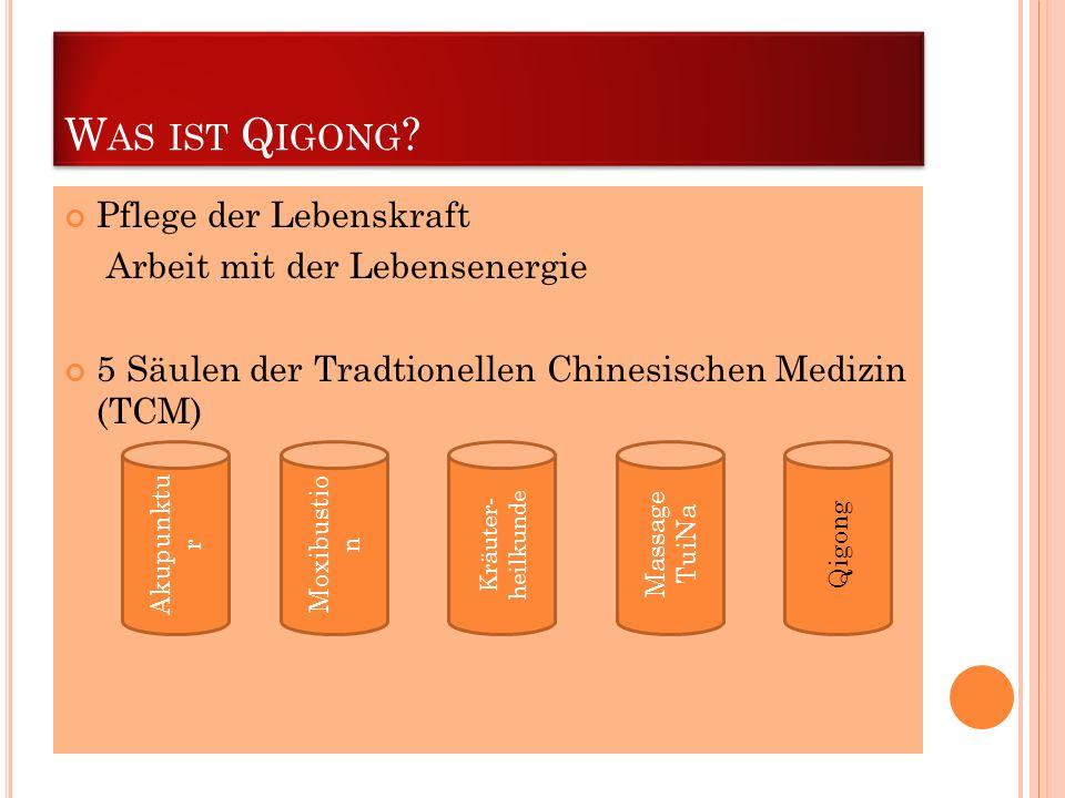 Was ist Qigong Pflege der Lebenskraft Arbeit mit der Lebensenergie